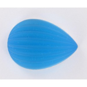 Pear cabochon, aquamarine mat 25x18 mm