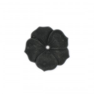 One hole matt flower with 5 petals, black 29 mm