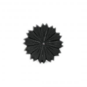 One hole matt flower, black 29 mm