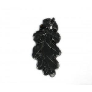 Oak leaf pendant, black 41 mm