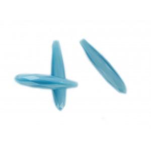 Pendant facetté trou borgne, bleu 34x7 mm