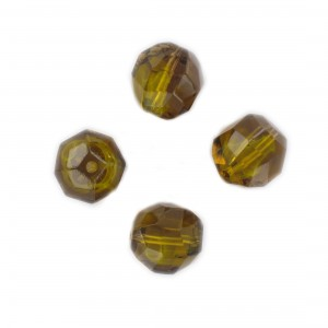 Faceted bead, topaz and topaz opal 14x12 mm