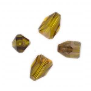Faceted bead, topaz and topaz opal 17x10 mm