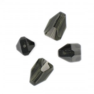 Faceted bead, black diamond17x10 mm