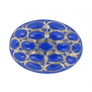Oval lapis cabochon 25x18 mm