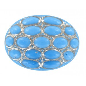 Oval turquoise cabochon 40x30 mm