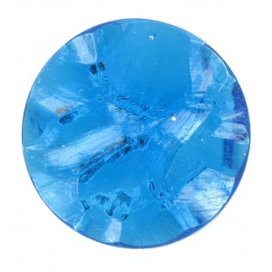 "Round ""rock"" aquamarine cabochon 25 mm"