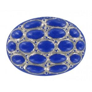 Oval lapis cabochon 40x30 mm