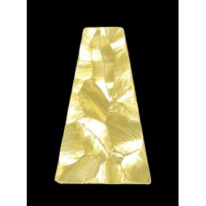 "Trapezium ""rock"" gold 38x24 mm"
