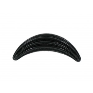 Croissant striped black 40x11 mm