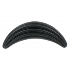 Croissant striped black mat, 50x21 mm