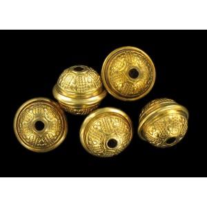 Brass bead 14x12 mm