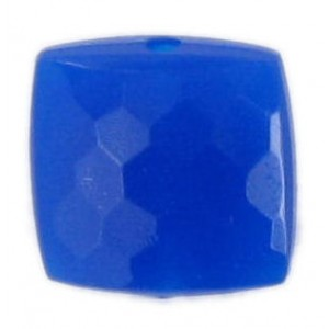faceted curved square lapis 9 mm