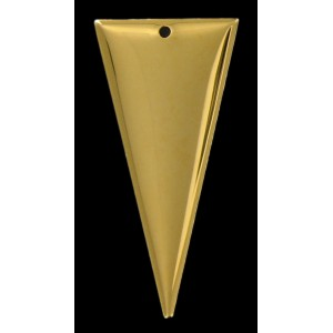 gilded triangle pendant 40x20 mm