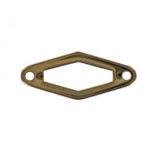Rhomb link, openwork, golden brown  24x10 mm