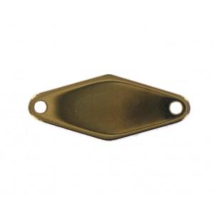 Rhomb link, golden brown,  24x10 mm