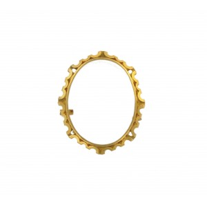 Oval brooch frame in brass for stone sizing 40x30 mm