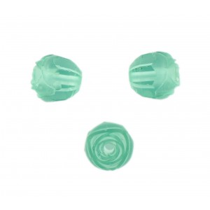 Rosebud cut bead, zircon 10 mm