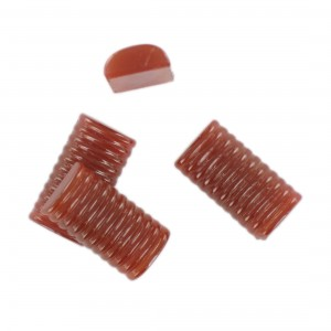 Rectangular striped cabochon, cornelian 22x12 mm