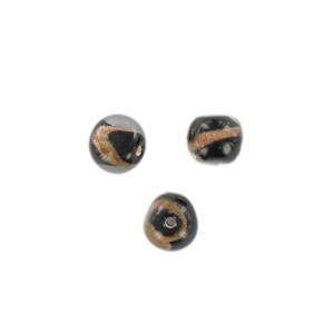 Baroque bead with aventurine, black 10 mm