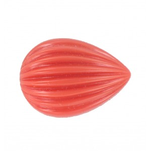 Pear cabochon, coral red 25x18 mm
