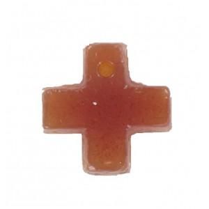 Cross pendant cornelian 15 mm