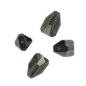 Faceted bead, black diamond17x10 mm