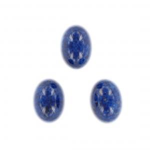 Oval cabochon, lapis lazuli 18x13 mm