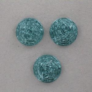 Cabochon rond, vert foncé 18 mm
