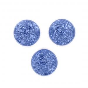 Cabochon rond, bleu foncé 18 mm
