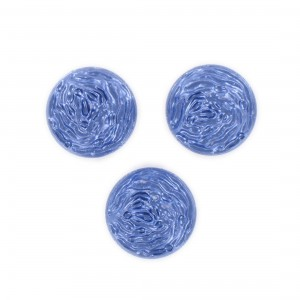 Round cabochon, dark blue 18 mm