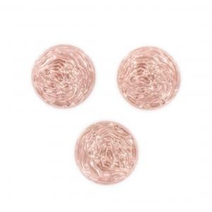 Cabochon rond, vieux rose 18 mm