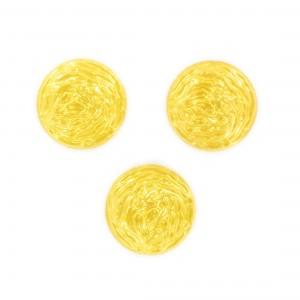 Cabochon rond, jaune 18 mm