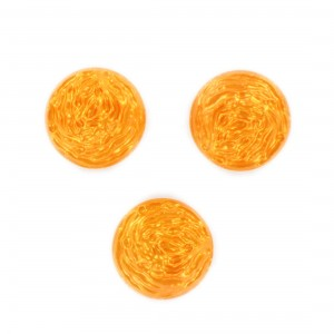 Round cabochon, orange 18 mm