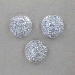 Cabochon rond, gris 18 mm