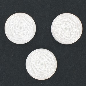 Round cabochon, white 22 mm
