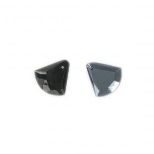 Faceted triangular pendant, hematite 15x15 mm