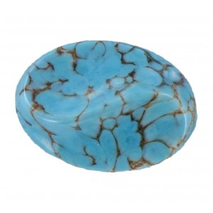 Oval turquoise matrix cabochon 25x18 mm