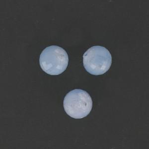 Perle ronde à facettes, bleu clair 12 mm