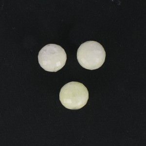 Round faceted bead, light yellow 12 mm