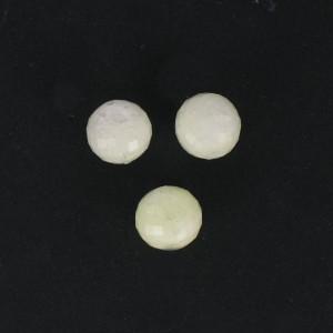 Perle ronde à facettes, jaune pâle 12 mm