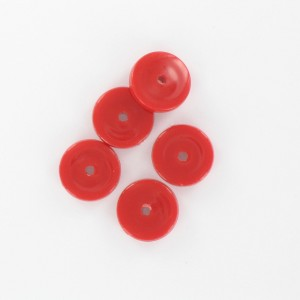 Flat disc, red 12 mm