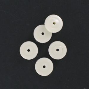 Flat disc, ivory 12 mm
