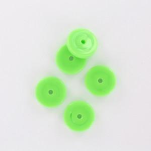 Rondelle, vert pomme 12 mm