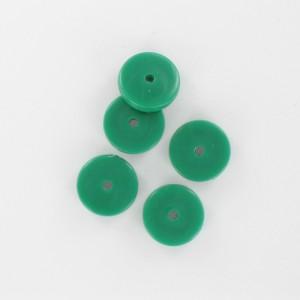 Flat disc, dark green 12 mm