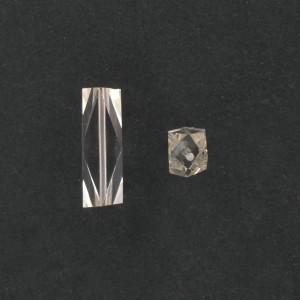 Cylindre facetté, cristal 24x7,5 mm