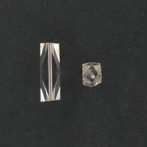 Faceted cylinder, crystal 24x7,5 mm