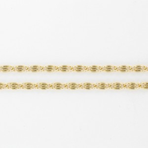 Aluminum chain, gilded 3 mm