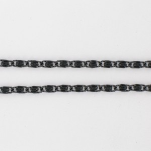 Aluminum chain, black 3 mm