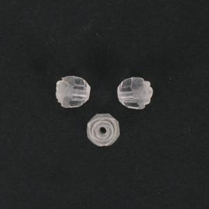 Rosebud cut bead, crystal 10 mm